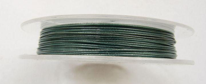Lanko na navlékání korálků 0,38 mm zelené