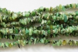 Pravý NEFRIT, sekané korálky 10 cm