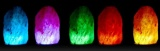 Solná lampa USB - barevná2