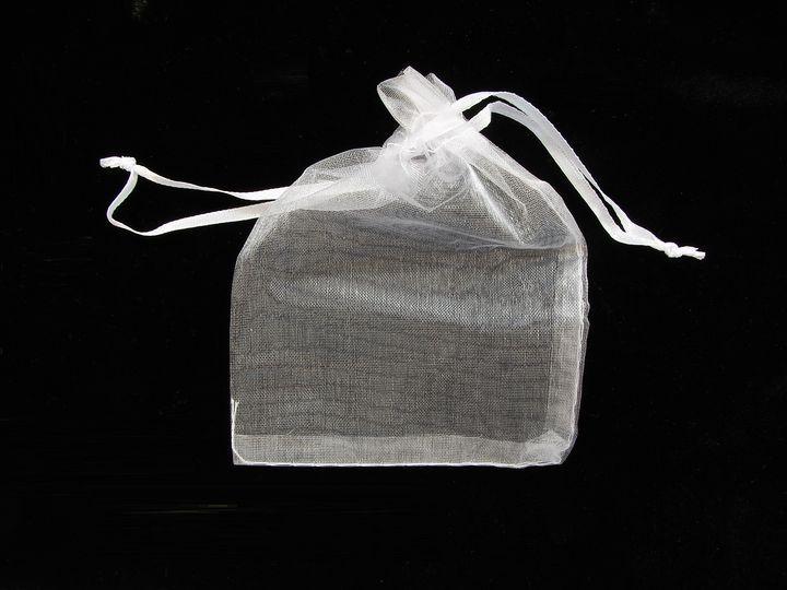 Organzový sáček na kamínky bílý střední(1)