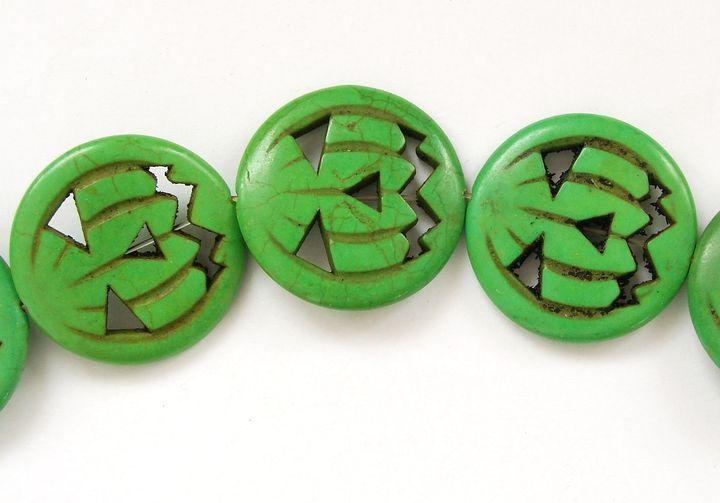 HOWLIT - korálek helloweenská dýně zelená (1)