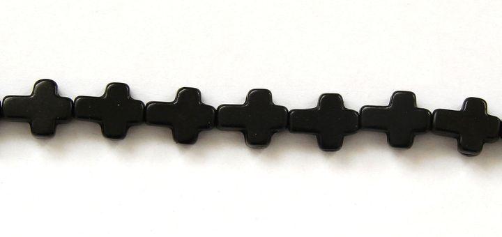 HOWLIT - korálek křížek černý (1)