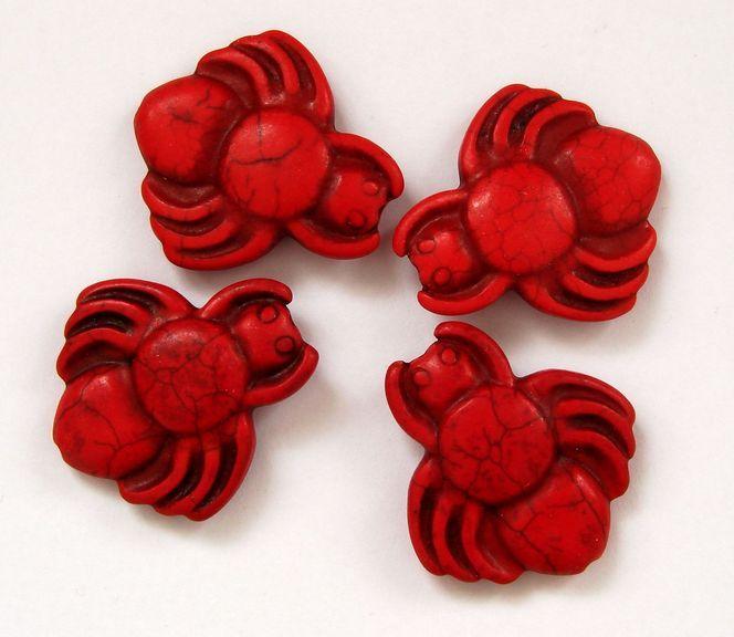 HOWLIT - korálek pavouk červený 1 ks