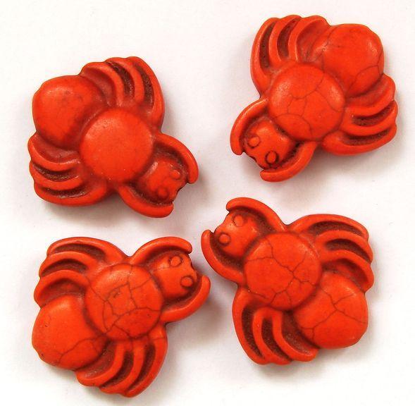HOWLIT - korálek pavouk oranžový 1 ks
