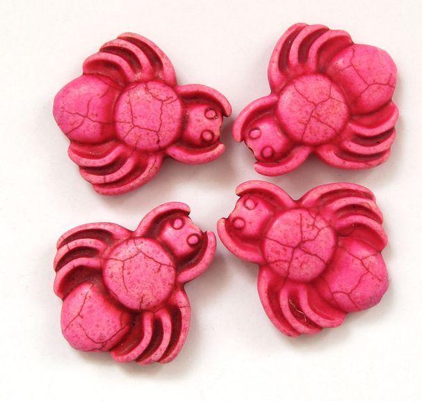 HOWLIT - korálek pavouk růžový 1 ks