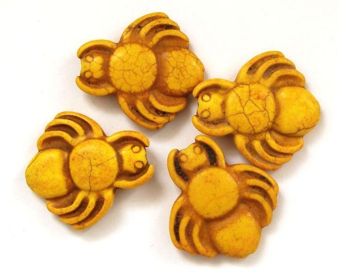 HOWLIT - korálek pavouk žlutý 1 ks