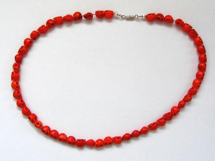 Náhrdelník HOWLIT lebky oranžové (1)