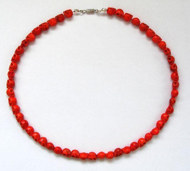 Náhrdelník HOWLIT lebky oranžové (2)