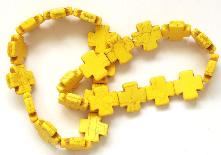 Náramek HOWLIT kříže žluté (1)