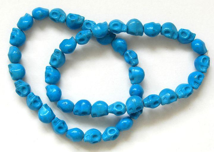 Náramek HOWLIT lebky modré (1)