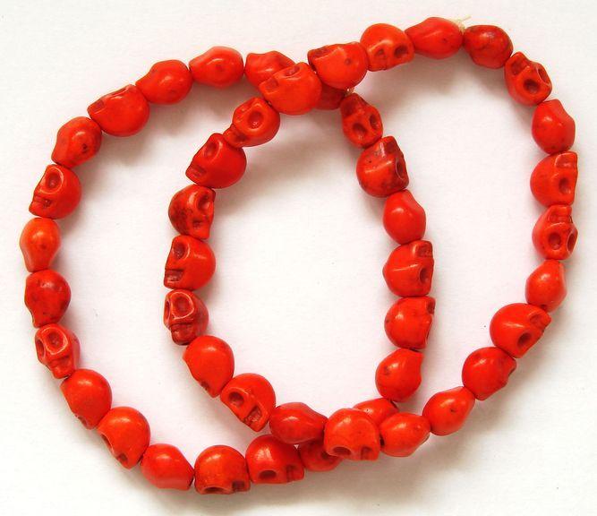Náramek HOWLIT lebky oranžové (1)