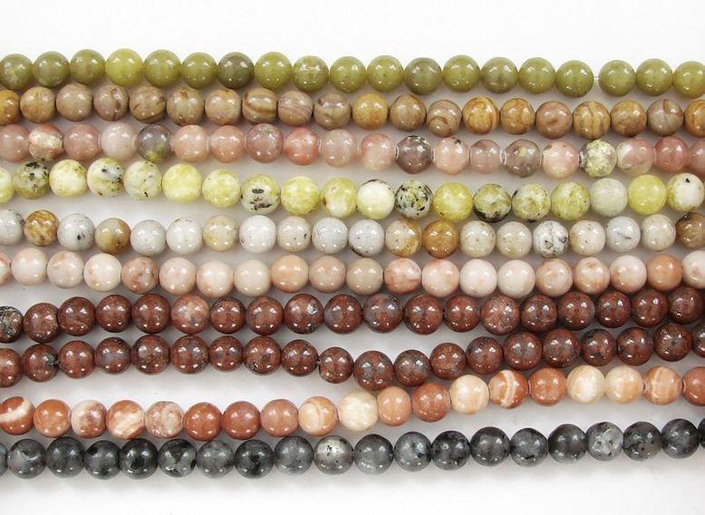 MIX kamenů - kuličky 10 návleků (5)