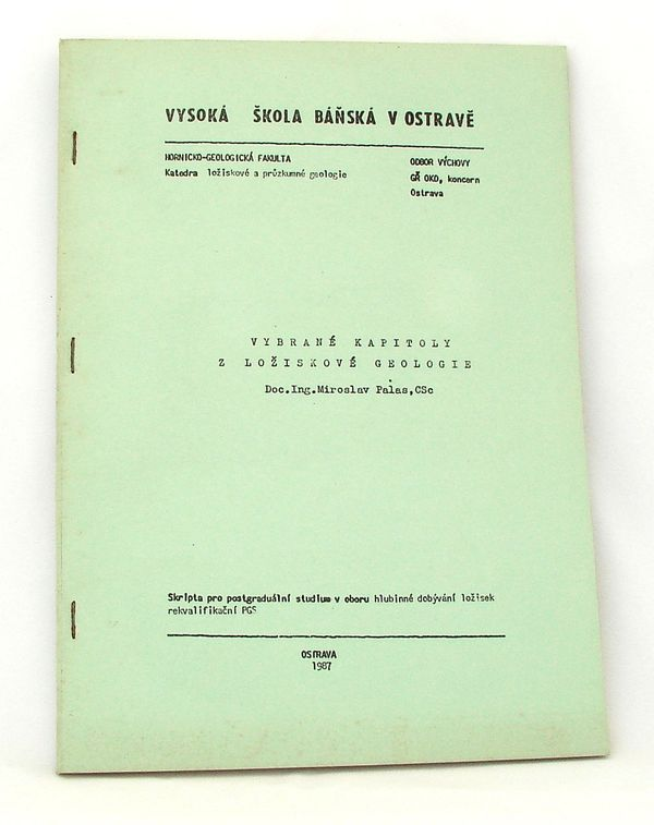 Vybrané kapitoly z ložiskové geologie - M.Palas
