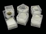 Plastová krabička na minerály s lupou 1ks