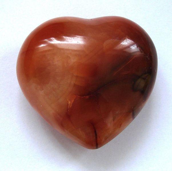 Střední srdce z karneolu - Madagaskar (5)