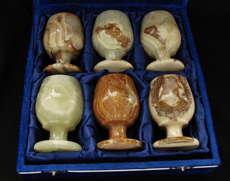 Váza z aragonitového onyxu - sada (9)